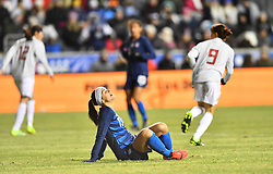 February 27, 2019 - Chester, PA, U.S. - CHESTER, PA - FEBRUARY 27: US Forward Alex Morgan (13) reacts to a turnover in the second half during the She Believes Cup game between Japan and the United States on February 27, 2019 at Talen Energy Stadium in Chester, PA. (Photo by Kyle Ross/Icon Sportswire) (Credit Image: © Kyle Ross/Icon SMI via ZUMA Press)