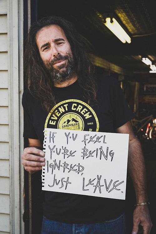 Mark Nason, owner of Leep Off Cycles, Keene Valley, New York.