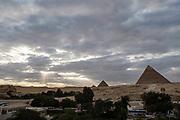 Giza Pyramids; Al Haram, Giza Governate, Egypt.