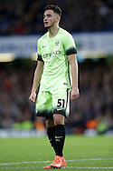 David Faupala of Manchester City looks on. The Emirates FA Cup, 5th round match, Chelsea v Manchester city at Stamford Bridge in London on Sunday 21st Feb 2016.<br /> pic by John Patrick Fletcher, Andrew Orchard sports photography.
