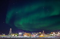 The central part of the Arctic city Longyearbyen with a backdrop of northern lights. Shortlisted in Astronomy Photographer of the Year 2014 competition.