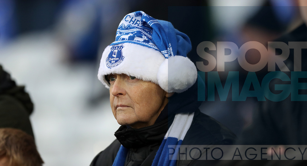 Everton fans during the Premier League match at Goodison Park, Liverpool. Picture date: December 4th, 2016.Photo credit should read: Lynne Cameron/Sportimage