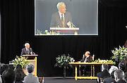 Nederland, Nijmegen, 7-5-2012Auteur Umberto Eco krijgt in de Stevenskerk de Vrede van Nijmegen penning.Foto: Flip Franssen/Hollandse Hoogte