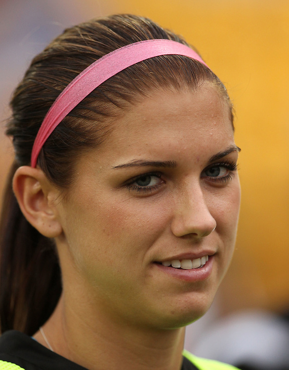 ATLANTA, GA - AUGUST 06:  Forward Alex Morgan #13 of the Western New York Flash walks on the field before the Women's Professional Soccer game between the Atlanta Beat and the Western New York Flash at Kennesaw State University Soccer Stadium on August 6, 2011 in Atlanta, Georgia.  (Photo by Mike Zarrilli/Getty Images)