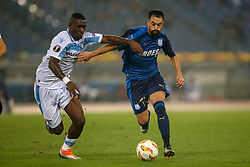September 20, 2018 - Rome, Lazio, Italy - 20th September 2018, Stadio Olimpico, Rome, Italy; UEFA Europa League football, Lazio versus Apollon Limassol; Bastos of Lazio challenges Facundo Pereyra of Apollon Limassol  Credit: Giampiero Sposito/Pacific Press (Credit Image: © Giampiero Sposito/Pacific Press via ZUMA Wire)
