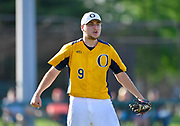 OFallon starting pitcher Mike Larson - who pitched the entire game - yells and starts to celebrate after OFallon defeated Edwardsville in a baseball sectional playoff game at Edwardsville High School in Edwardsville, IL on Wednesday June 9, 2021. <br /> Tim Vizer/Special to STLhighschoolsports.com.
