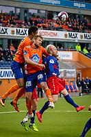 1. divisjon fotball 2018: Aalesund - Tromsdalen. Aalesunds Sonni Nattestad (t.v.) og Oddbjørn Lie i førstedivisjonskampen i fotball mellom Aalesund og Tromsdalen på Color Line Stadion.