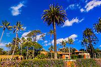 The grand beachfront estate of Ty Warner, creator of the Beanie Baby along Butterfly Beach in Santa Barbara, California USA.