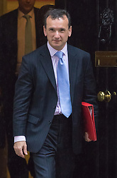 Downing Street, London, May 10th 2016. Welsh Secretary Alun Cairns leaves the weekly cabinet meeting in Downing Street.