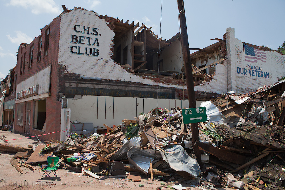 Cordova's historic downtown is a shell of its' former self after two tornados hit the city. Many places in Alabama were hit by F-4 and F-5 F tornados that were part of an estimated 300 that struck Alabama and the neighboring states on April 27th , 2011.