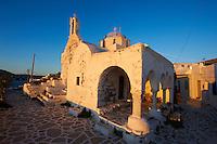 Grèce, Les Cyclades, Ile de Paros, Parikia (Hora), eglise du 13e  // Greece, Cyclades, Paros island, Parikia (Hora), 13th century church