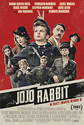 RELEASE DATE: October 18, 2019 TITLE: Jojo Rabitt STUDIO: Twentieth Century Fox DIRECTOR: Taika Waititi PLOT: A young boy in Hitler's army finds out his mother is hiding a Jewish boy in their home. STARRING: Poster art.. (Credit Image: © Twentieth Century Fox/Entertainment Pictures/ZUMAPRESS.com)