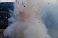 08 marzo 2021, Tultepec, México. Quema de salva en honor a San Juan de Dios.