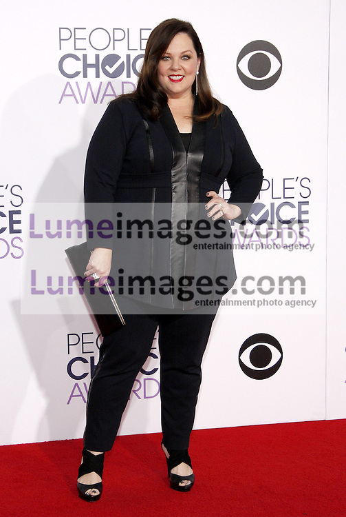Melissa McCarthy at the 41st Annual People's Choice Awards held at the Nokia L.A. Live Theatre in Los Angeles on January 7, 2015. Credit: Lumeimages.com