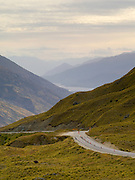 View over the Kawarau Valley from the Crown Range Road, near Arrowtown and Queenstown, Otago, New Zealand.