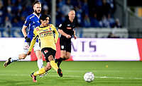 Fotball , 29 . oktober 2017 , Eliteserien , <br /> Sarpsborg - Sandefjord 5-0<br /> <br /> Jonas Lindberg , Sarpsborg<br /> Sabawon Wahid Shamohammad , Sandefjord