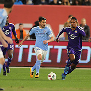 David Villa, NYCFC, in action during the New York City FC Vs Orlando City, MSL regular season football match at Yankee Stadium, The Bronx, New York,  USA. 18th March 2016. Photo Tim Clayton