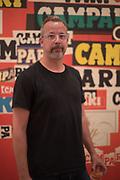 MARK MCCLURE, Private view for the Art of Campari, The Estorick Collection,  Islington. London. 3 July 2018