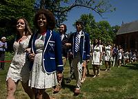 St Paul's School Graduation Form of 2018.  ©2018 Karen Bobotas Photographer