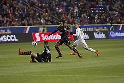 March 13, 2018 - Harrison, New Jersey, United States - Pablo Aguilar (12) of Club Tijuana defends during Scotiabank Concacaf Champions League quarterfinal second leg game against Red Bulls at Red Bull Arena Red Bulls won 3 - 1 (5 - 1 on aggregate) (Credit Image: © Lev Radin/Pacific Press via ZUMA Wire)
