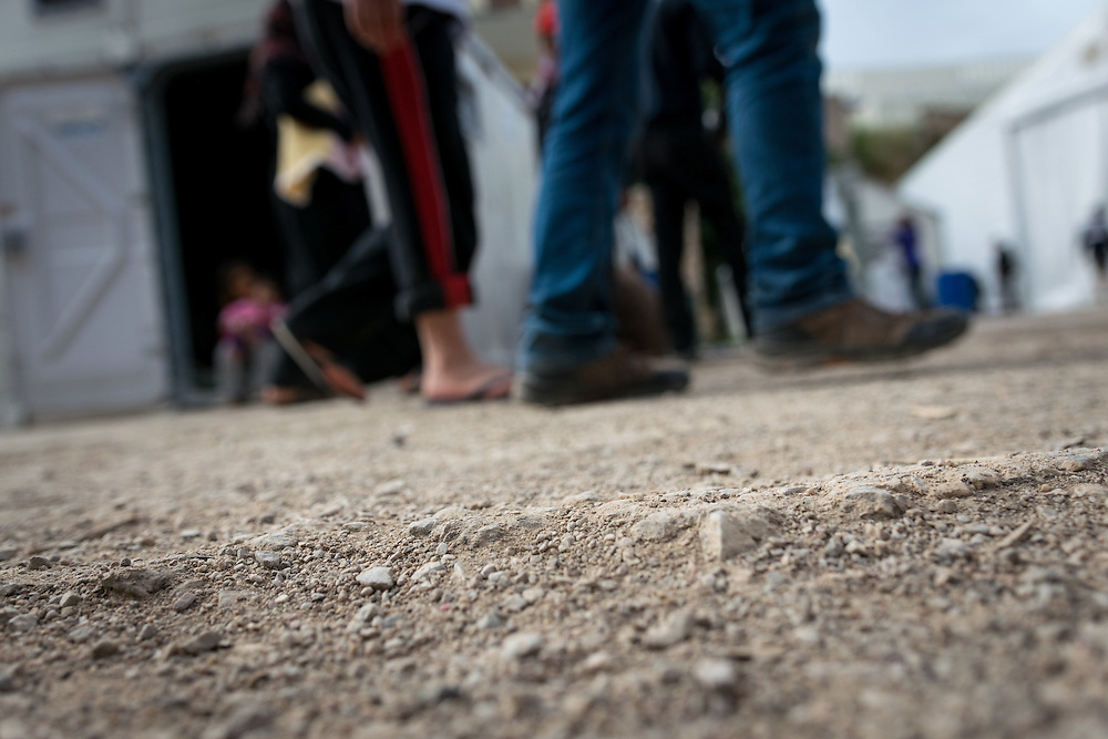 14 April 2016: The Souda Camp in the island of Chios, one of the few refugee camps in the Greek islands where refugees can still move freely. Both refugees and volunteer workers report lack of information, long waiting times for the little food available, and poor nutrition and sanitation.
