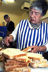 Edge Cafe is staffed by people with learning disabilities who learn food hygiene & preparation; Yorkshire,  The cafe is funded by Brunel Housing Association under the supporting people scheme, UK
