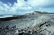 Glamorgan Heritage Coast, Rocky Shore, South Wales, UK, The heritage coast stretches for 14 miles from West Aberthaw to Porthcawl, and along the way showcases some beautiful low cliffs and dramatic coastal scenery
