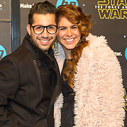 NLD/Amsterdam/20151215 - première van STAR WARS: The Force Awakens!, Jody Bernal en partner Melissa Theba