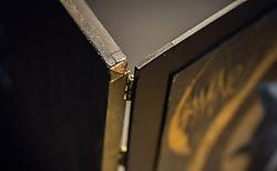 ICON I FAMINE ELITIST TEST PRESSING <br /> FAMINE self titled TEST PRESSING<br /> Hand made and hand painted presentation box<br /> Wood, Brass, Acrylic and mixed media