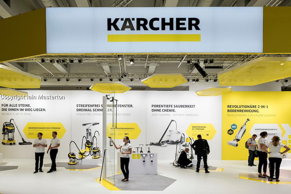 Karcher stand at 2016  IFA (Internationale Funkausstellung Berlin), Berlin, Germany