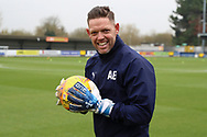 AFC Wimbledon goalkeeping coach Ashley Bayes prior to kick off during the EFL Sky Bet League 1 match between AFC Wimbledon and Southend United at the Cherry Red Records Stadium, Kingston, England on 24 November 2018.
