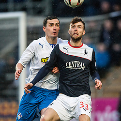 Morton's Marc Fitzpatrick and Falkirk's Rory Loy.<br /> Falkirk 1 v 1 Morton, Scottish Championship game today at The Falkirk Stadium.<br /> © Michael Schofield.