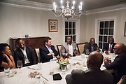 Harrison Barnes dinner with Dallas elite on January 23, 2017. (Cooper Neill for The Players Tribune)