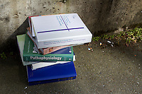 I've done this before... You toss out a huge pile of books/notes and it makes you wonder why did all that studying in the first place.