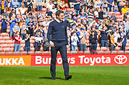 Sam Ricketts of Shrewsbury Town (Manager) during the EFL Sky Bet League 1 match between Barnsley and Shrewsbury Town at Oakwell, Barnsley, England on 19 April 2019.