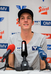 30.12.2014, for Friends, Mösern, AUT, FIS Ski Sprung Weltcup, 63. Vierschanzentournee, OeSV Pressekonferenz, im Bild Gregor Schlierenzauer (AUT) // Gregor Schlierenzauer of Austria during Pressconference of Austrian Team of the 63rd Four Hills Tournament of FIS Ski Jumping World Cup at the for Friends Hotel, Mösern, Austria on 2014/12/30. EXPA Pictures © 2014, PhotoCredit: EXPA/ JFK
