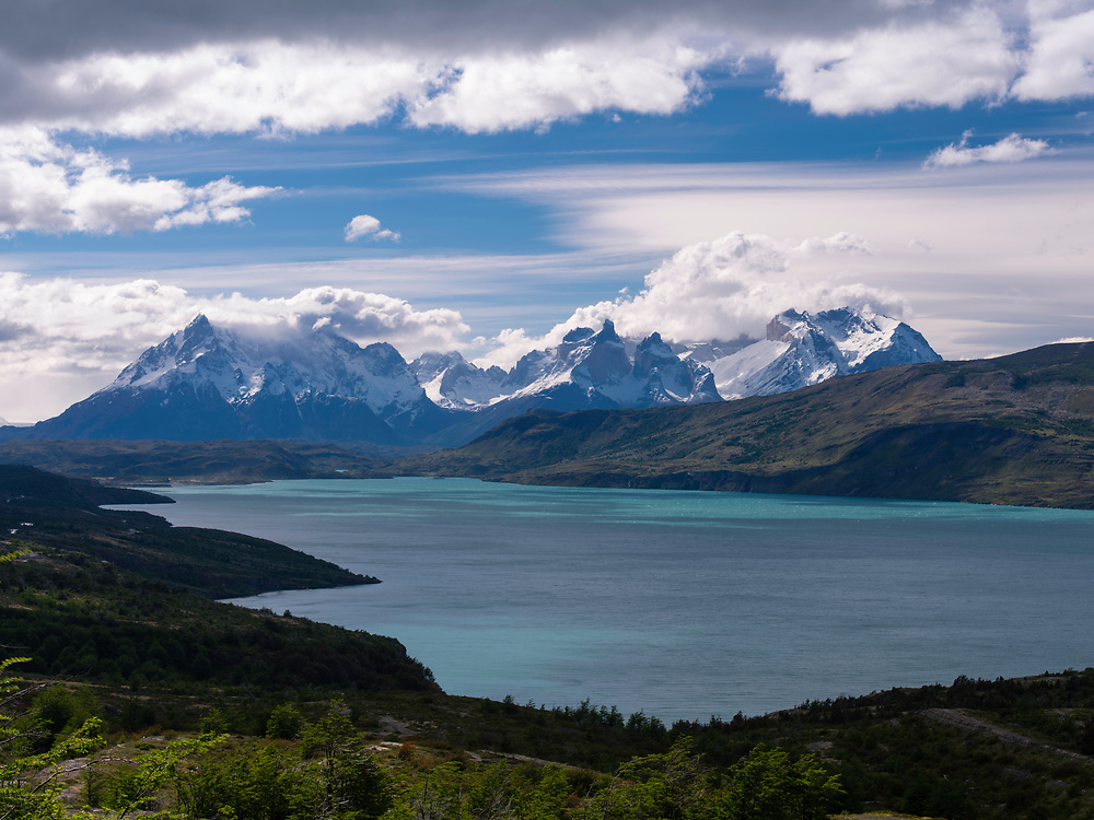 View of Lago del Toro, Torres del Paine National Park, Chile.