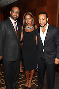 """15 November 2010- New York, NY- l to r: Don Coleman, Kelli Coleman and John Legend at The National Action Network's 1st Annual Triumph Awards honoring """"Our Best"""" in the Arts, Entertainment, & Sports held at Jazz at Lincoln Center on November 15, 2010 in New York City. Photo Credit: Terrence Jennings"""