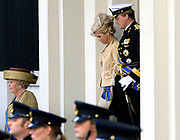 Prinsjesdag 2007 in The Hague. <br /> <br /> On the Photo: Queen Beatrix , Prinses Maxima and Prince Willem Alexander leave the Palace