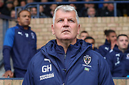 AFC Wimbledon temporary manager coach Glyn Hodges looking onto pitch during the EFL Sky Bet League 1 match between Southend United and AFC Wimbledon at Roots Hall, Southend, England on 12 October 2019.