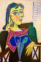France, Paris (75), Musee Picasso, Portrait de Dora Maar, 1937 // France, Paris, Picasso museum, Portrait of Dora Maar, 1937