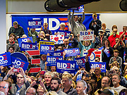 30 APRIL 2019 - CEDAR RAPIDS, IOWA: The crowd in Cedar Rapids waits for an election rally with Joe Biden to start. Biden, who was Vice President for 8 years, emerged as the Democratic front runner shortly after declaring his candidacy. He kicked off his Iowa campaign in Cedar Rapids, and is visiting Dubuque, Iowa City and Des Moines in the next two days. Iowa traditionally hosts the the first selection event of the presidential election cycle. The Iowa Caucuses will be on Feb. 3, 2020.                    PHOTO BY JACK KURTZ