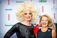 AMSTERDAM - Prinses Mabel arriveert bij AFAS Live voor AmsterdamDiner. Het diner staat in het teken