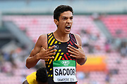 Jonathan Sacoor (BEL) wins the Gold Medal in 400 Metres Men during the IAAF World U20 Championships 2018 at Tampere in Finland, Day 4, on July 13, 2018 - Photo Julien Crosnier / KMSP / ProSportsImages / DPPI