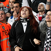 Besiktas's supporters during their UEFA Europa League Group Stage Group E soccer match Besiktas between Stoke City at Inonu stadium in Istanbul Turkey on Wednesday December 14, 2011. Photo by TURKPIX