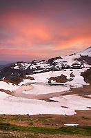 Alpenglow over Mount Baker Wilderness Washington