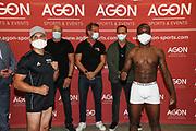 "BOXEN: AGON Boxgala, Wiegen, Berlin, 27.08.2020<br /> Abass Baraou (GER) - Jack ""Golden Jack"" Culcay (GER)<br /> © Torsten Helmke"