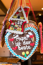 Traditional chocolate sweets for sale at Christmas market in Cologne Germany