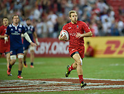 Canada's Harry Jones breaks away to score during the HSBC World Rugby Sevens Series, Singapore, Cup Final match USA -V- Canada  at The National Stadium, Singapore on Sunday, April 16, 2017. (Steve Flynn/Image of Sport)