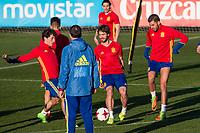 Yeray Alvarez, Alvaro Odriozola during the training of Spanish national team under 21 at Ciudad del El futbol  in Madrid, Spain. March 21, 2017. (ALTERPHOTOS / Rodrigo Jimenez)